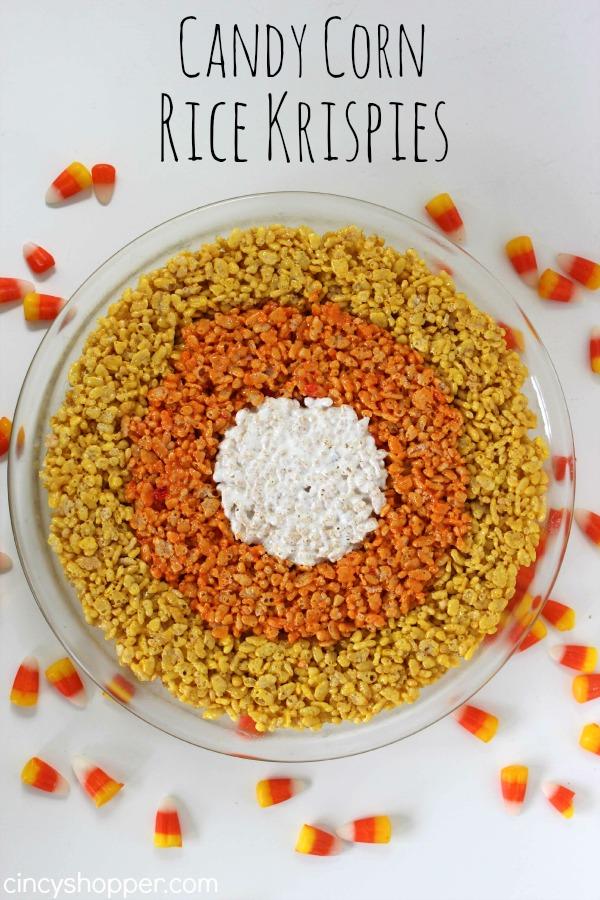 Candy Corn Rice Krispie Recipe