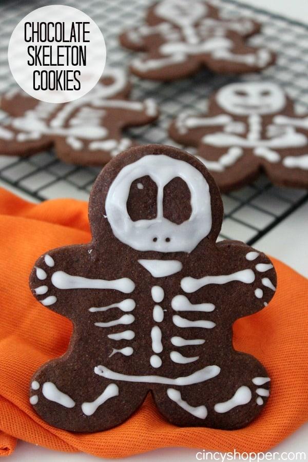 Chocolate Skeleton Cookies Recipe