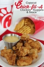 Copycat Chick-fil-A Chicken Nuggets & Sauce Recipe