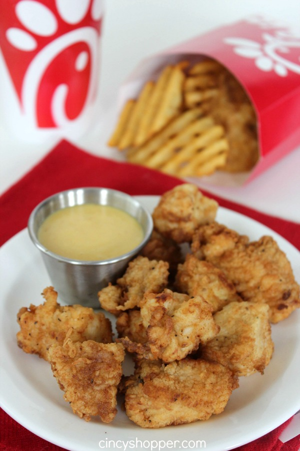 Copycat Chick-fil-A Chicken Nuggets & Sauce Recipe. Save $$'s and make your favorites at home. This recipe was a HUGE hit with our family.