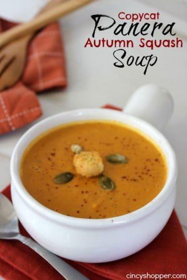 Copycat Panera Autumn Squash Soup Recipe