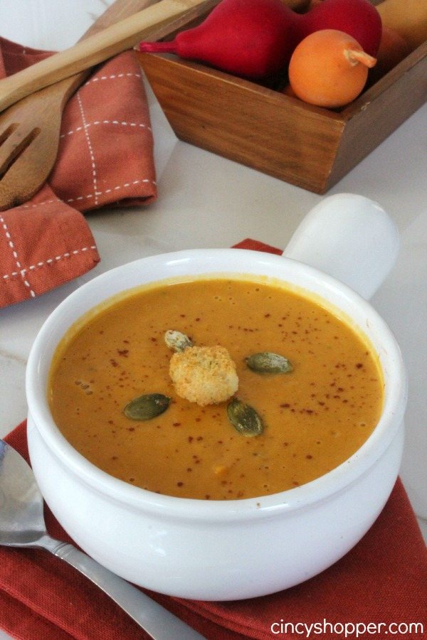 "This CopyCat Panera Autumn Squash Soup was ""Over the Top"" delicious! Perfect fall soup. Plus saved $$'s by making at home."