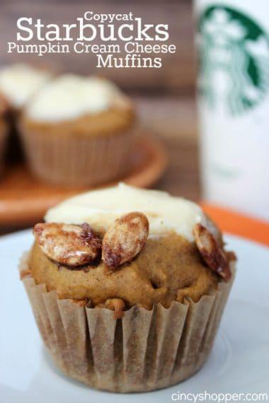 Copycat Starbucks Pumpkin Cream Cheese Muffin Recipe