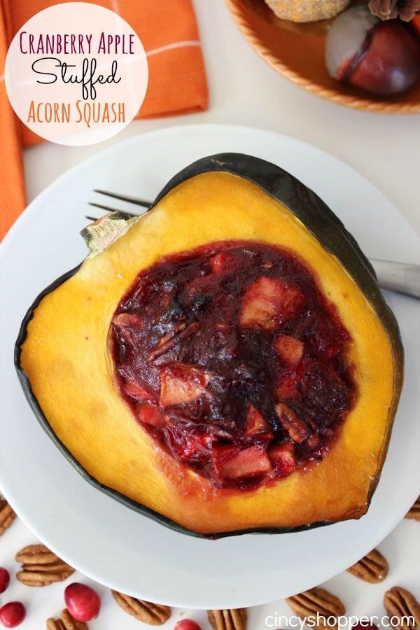 Cranberry Apple Stuffed Acorn Squash Recipe