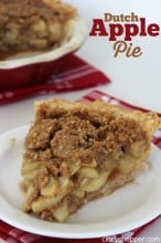 Dutch Apple Pie Recipe
