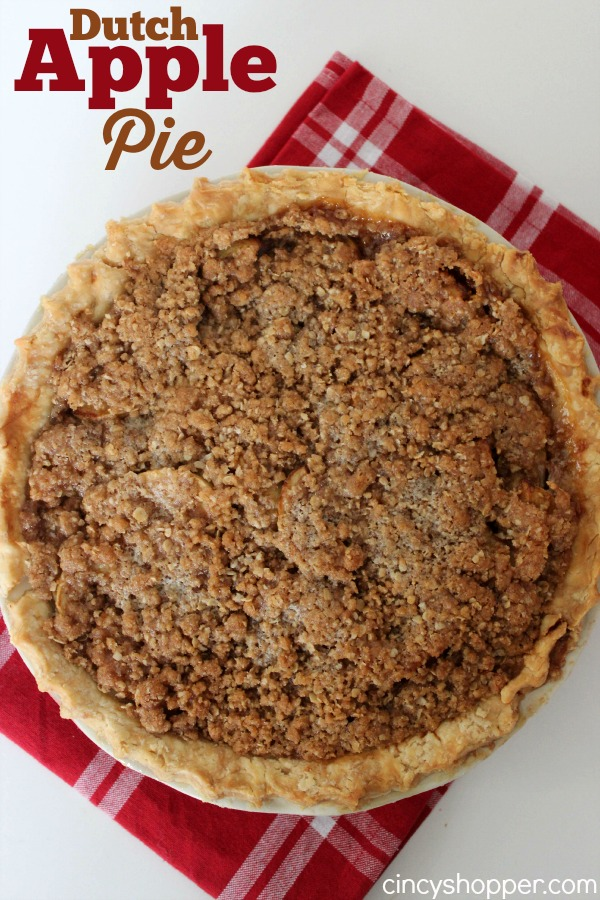 Dutch Apple Pie - Amazing pie for all year long. Perfect for Thanksgiving and Christmas!