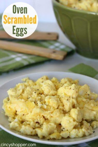 Oven Scrambled Eggs Recipe
