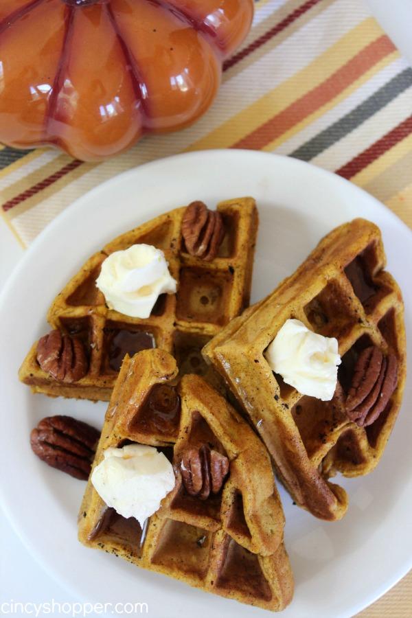 Pumpkin Waffles - makes for a great fall breakfast!