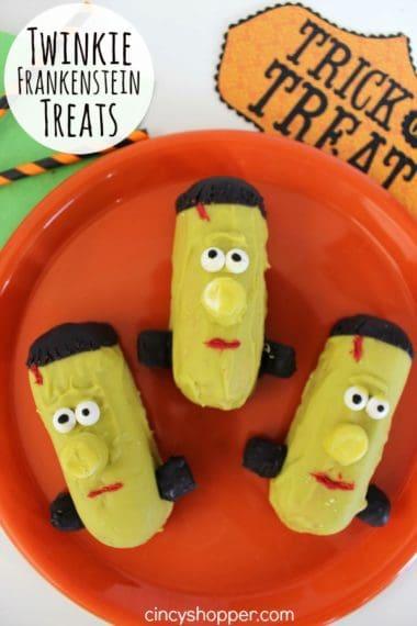 Twinkie Frankenstein Treats