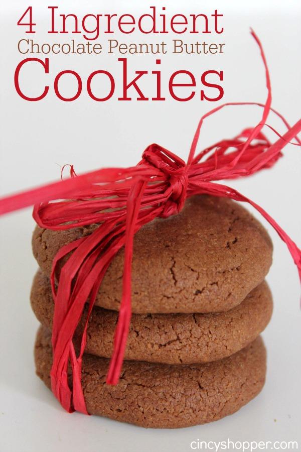 4 Ingredient Chocolate Peanut Butter Cookie