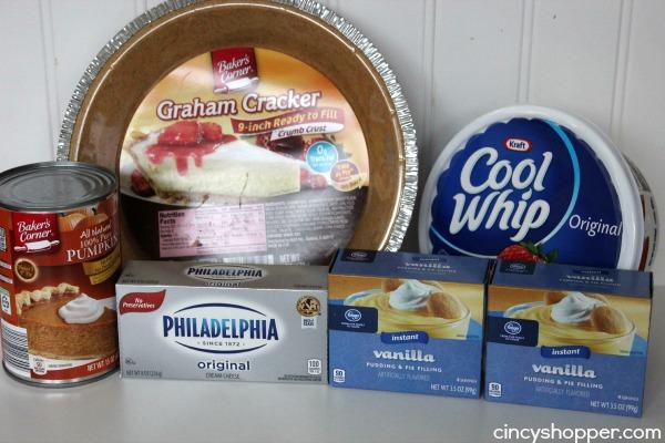 No Bake Pumpkin Pie Ingredients