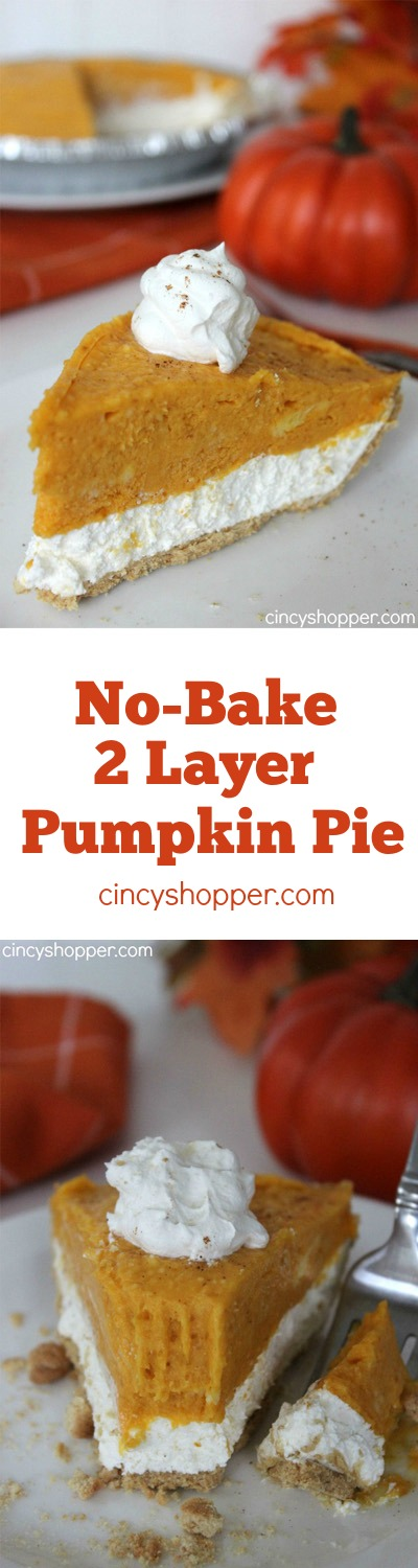 No-Bake 2-Layer Pumpkin Pie
