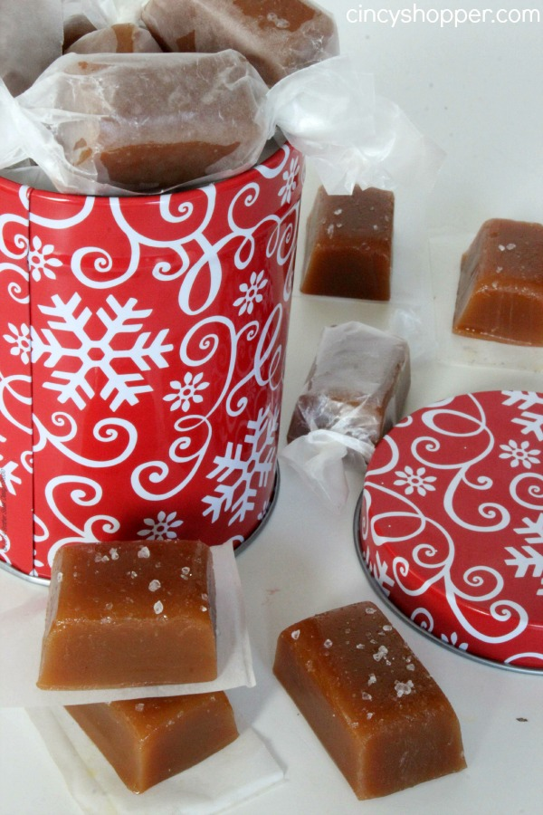 Salted Caramels- So tasty. Makes for a great Christmas gift. Make a batch, wrap them individually and gift in a jar, tin or box.