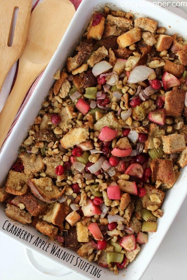 Cranberry Apple Walnut Stuffing 1