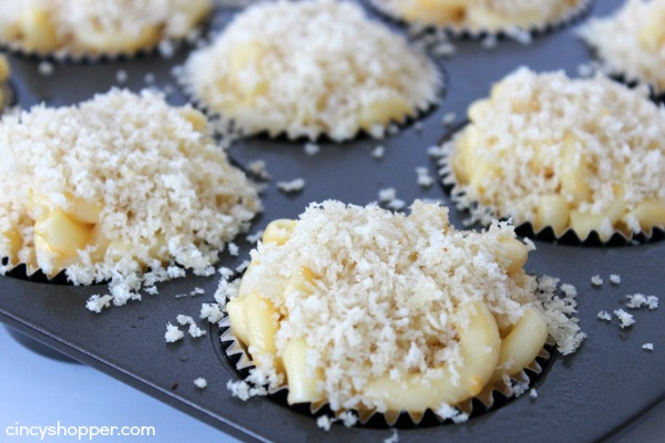 Macaroni and Cheese Muffins Recipe-Quick and Easy homemade Mac & Cheese loaded into a cupcake liner for individual yumminess! Great for entertaining during the holidays. Comfort food at it's best!