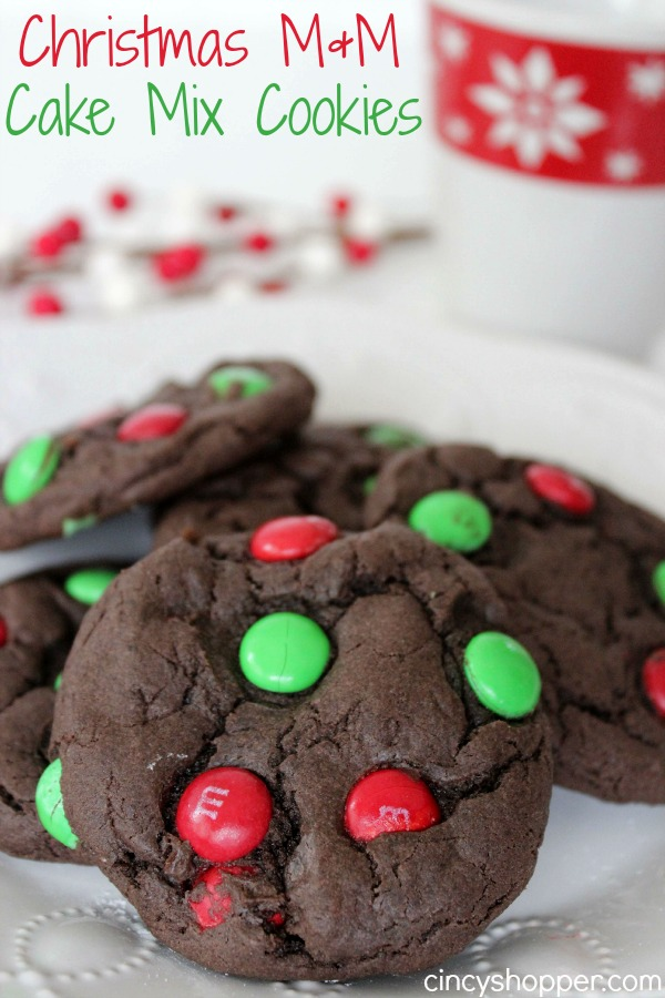 christmas mm cake mix cookies recipe - Simple Christmas Cookies