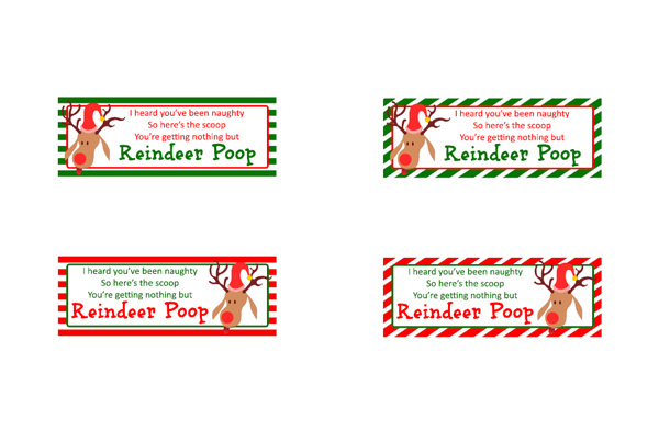 Reindeer Poop Gift Idea with Printable Toppers- A super fun and ...