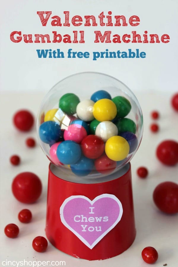 image about Printable Gumball Machine named Do it yourself Valentine Gumball Unit - CincyShopper