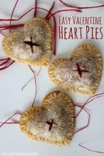 Easy Valentine Heart Pies