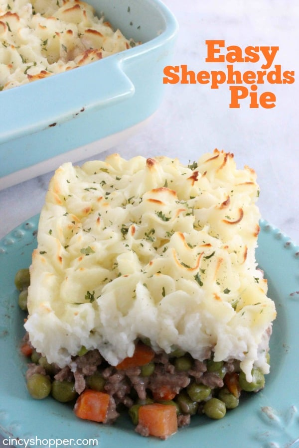 Text on image Easy Shepherd's Pie