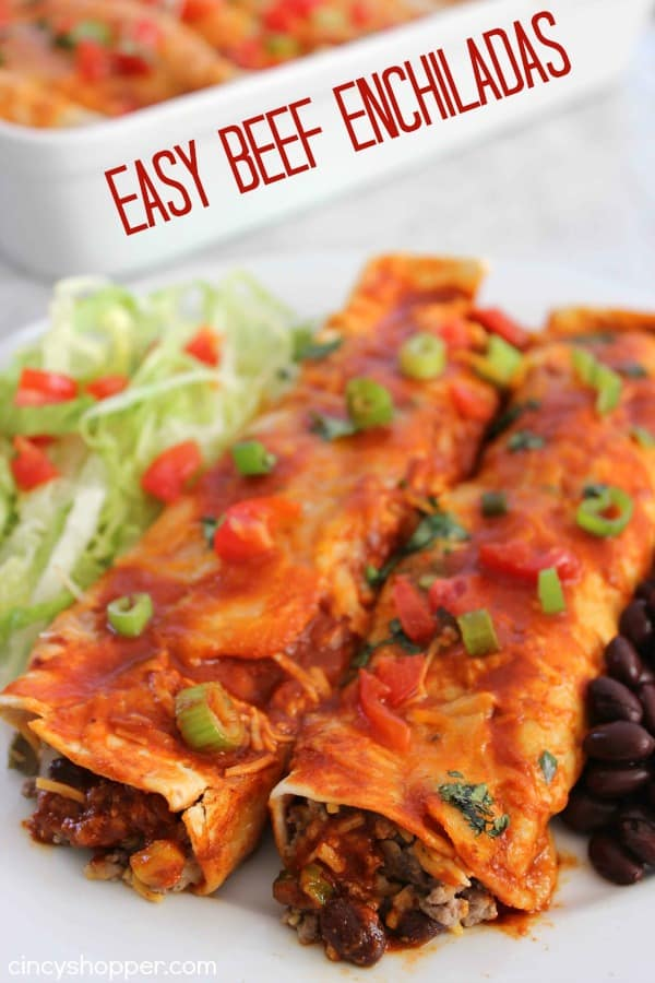 Easy Beef Enchiladas- Enjoy a Mexican Dinner at home in no time at all ...