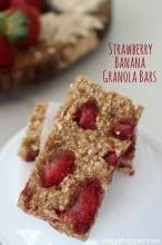 Strawberry Banana Granola Bars Recipe
