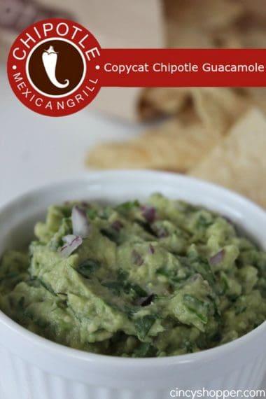 Copycat Chipotle Guacamole