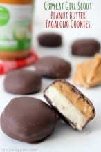 CopyCat Girl Scout Peanut Butter Tagalong Cookies
