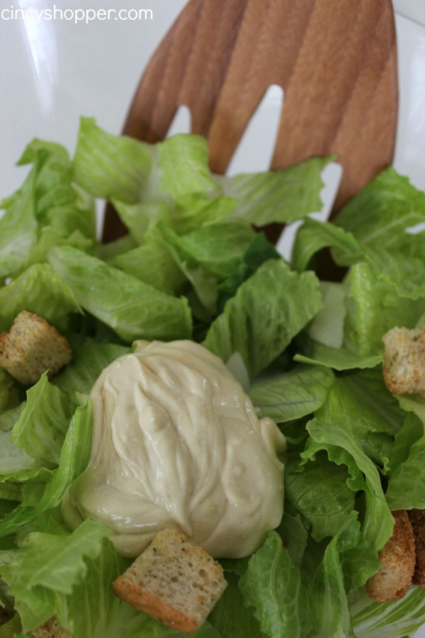 Homemade Caesar Salad Dressing- Super simple and so much better than store bought. You can whip up a batch to enjoy with a simple Caesar salad for a side dish or meal.