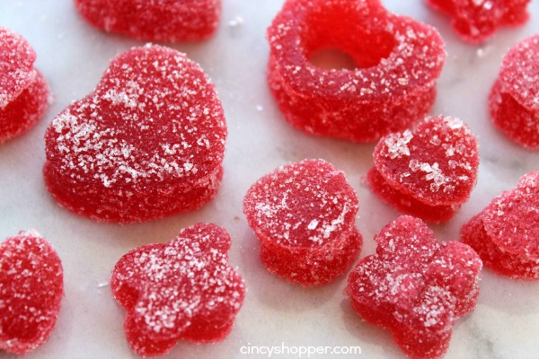 Homemade Gumdrops for Valentine's Day- A super easy and fun recipe that is great for just about any holiday.