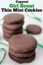 Copycat Girl Scout Thin Mint Cookies