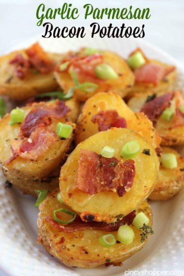 Garlic Parmesan Bacon Potatoes