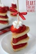 Heart Pancake Skewers