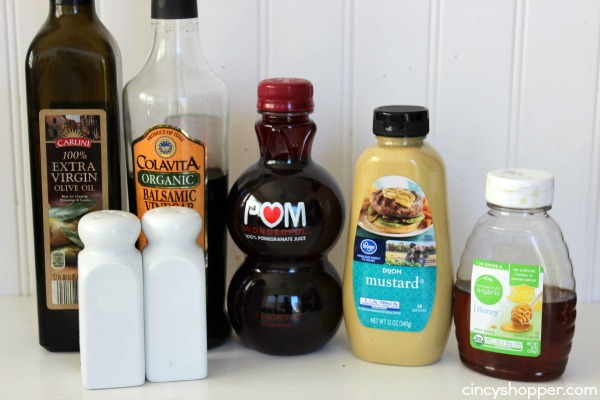 Homemade Pomegranate Balsamic Vinaigrette Dressing- With just a few simple ingredients you can have this fresh dressing ready to serve.