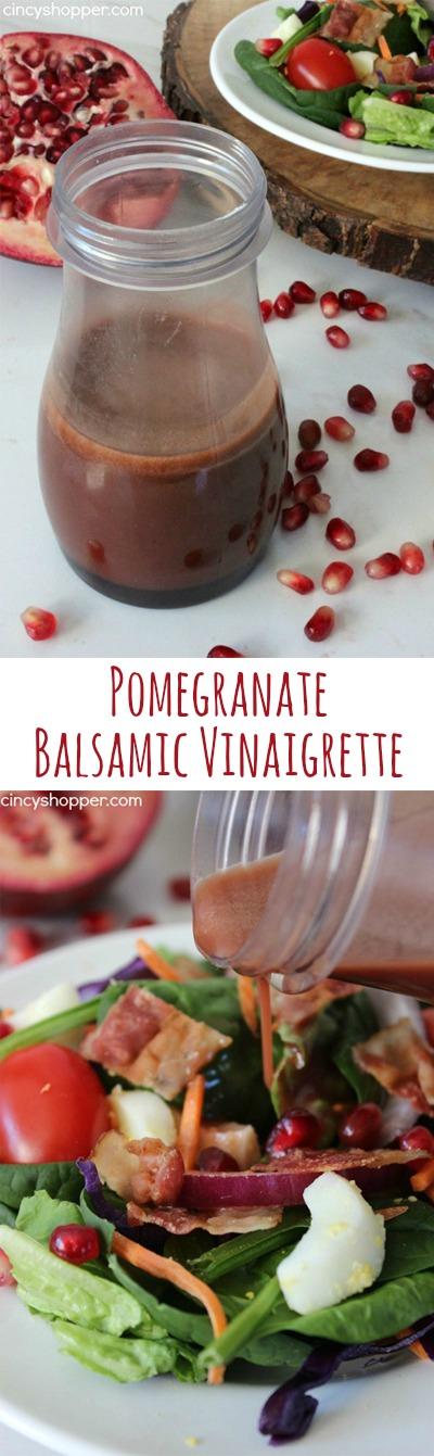 How to make pomegranate balsamic vinegar dressing