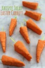 Krispie Treat Easter Carrots