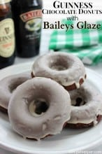 Guinness Chocolate Donuts with Baileys Glaze