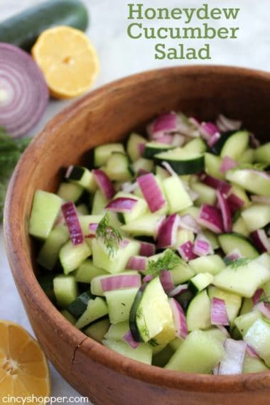 Honeydew Cucumber Salad