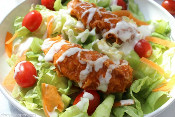 Buffalo Chicken Salad- Easy to make at home. Super lunch or dinner idea.