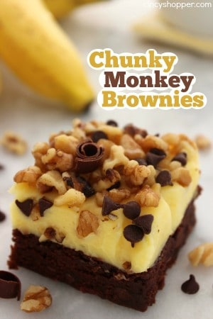 Chunky Monkey Brownies 1