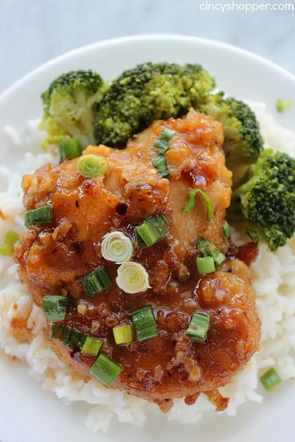 Cheap Dinner Recipes - Honey Garlic Chicken Thighs | Homemade Recipes http://homemaderecipes.com/quick-easy-meals/cheap-dinner-recipes