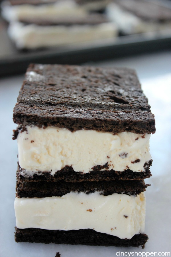 Ice Cream Sandwiches Recipe- Better than store bought. Perfect treat on a hot summer day.