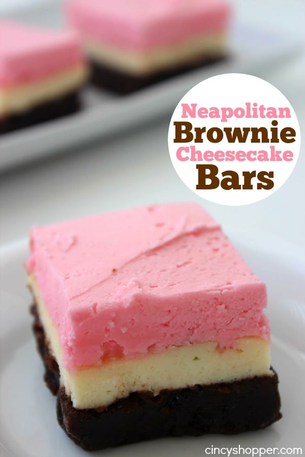 Neapolitan Brownie Cheesecake Bars 1