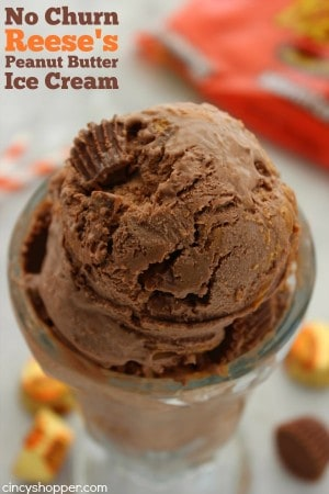 No Churn Reese's Peanut Butter Ice Cream 1