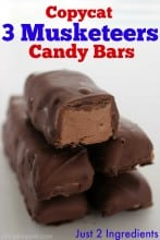 Copycat 3 Musketeers Candy Bars