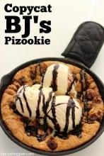CopyCat BJ's Pizookie Pizza Cookie