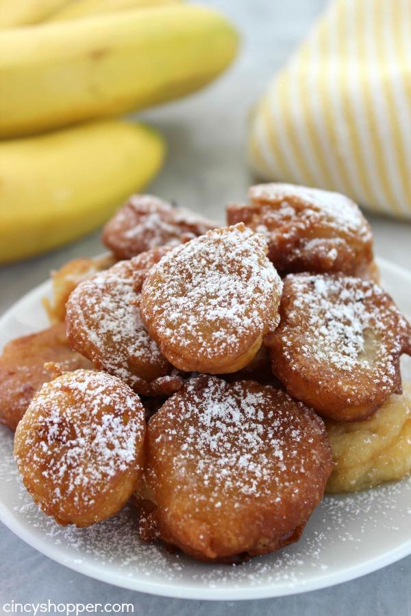 Deep Fried Banana Bites- Super tasty dessert. Dust your bites with ...