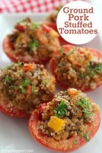Ground Pork Stuffed Tomatoes
