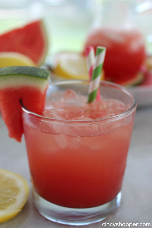 Watermelon Lemonade- super refreshing beverage for summer. Makes for a great for bbq drink.