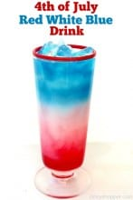 4th of July Red White Blue Drink